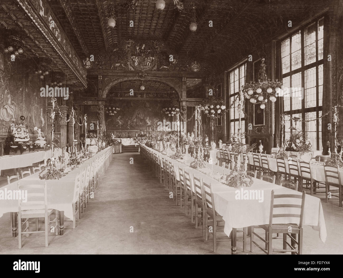 Ballroom in the Kuenstlerhaus in Munich Stock Photo