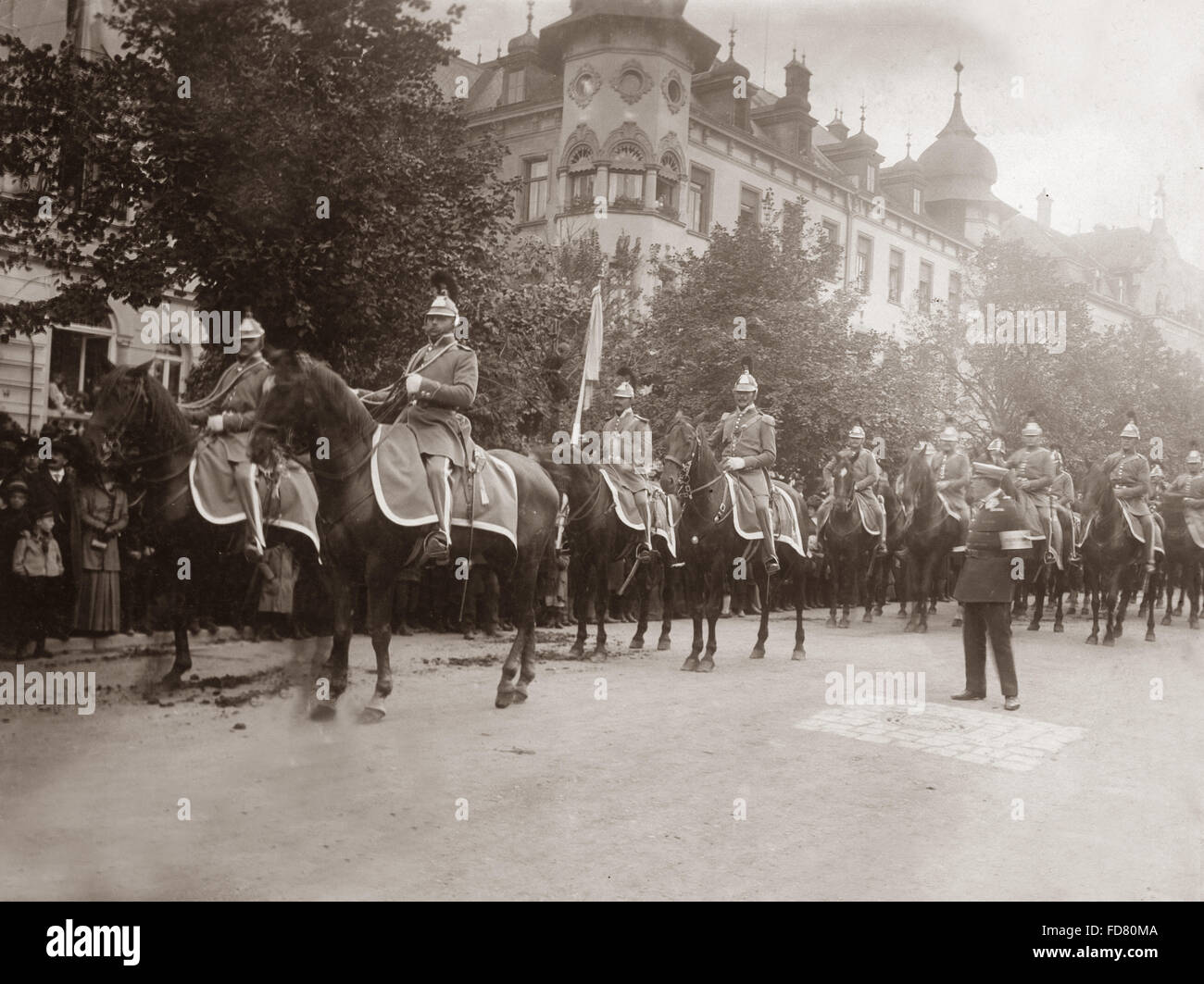 Landwehr Cavalry, 1910 - Stock Image