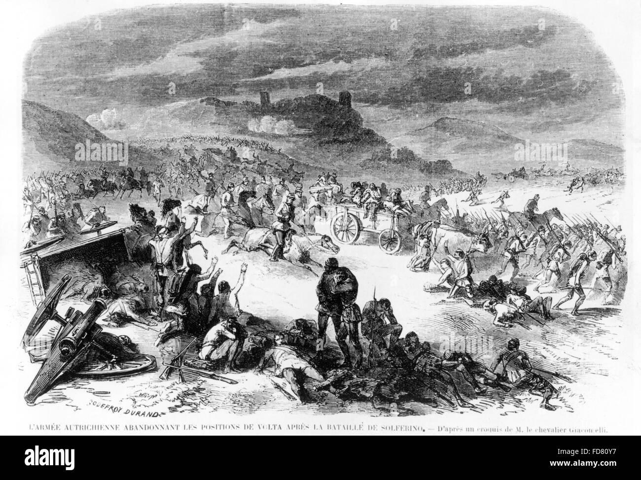 The Battle of Solferino, 1859 - Stock Image