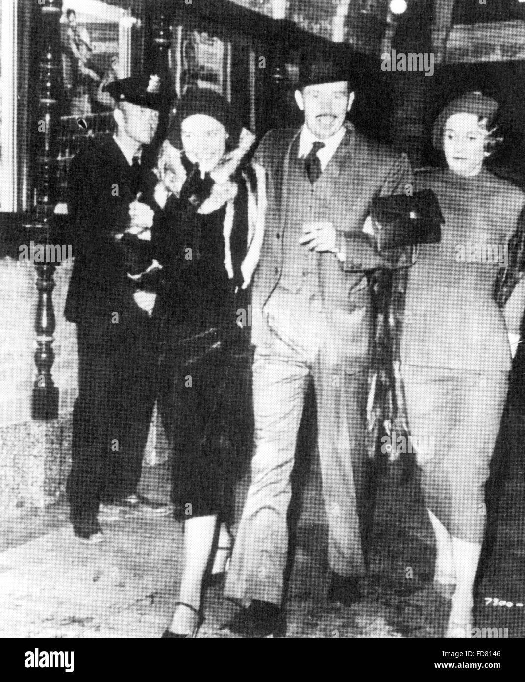 Movie still: the death of John Dillinger, 1934 - Stock Image