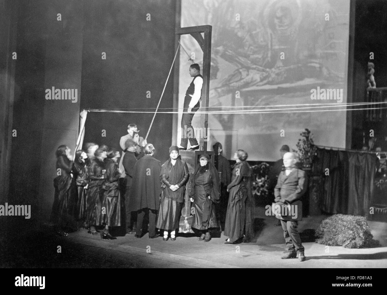 Premiere of The Threepenny Opera in Berlin, Germany, 1928 - Stock Image