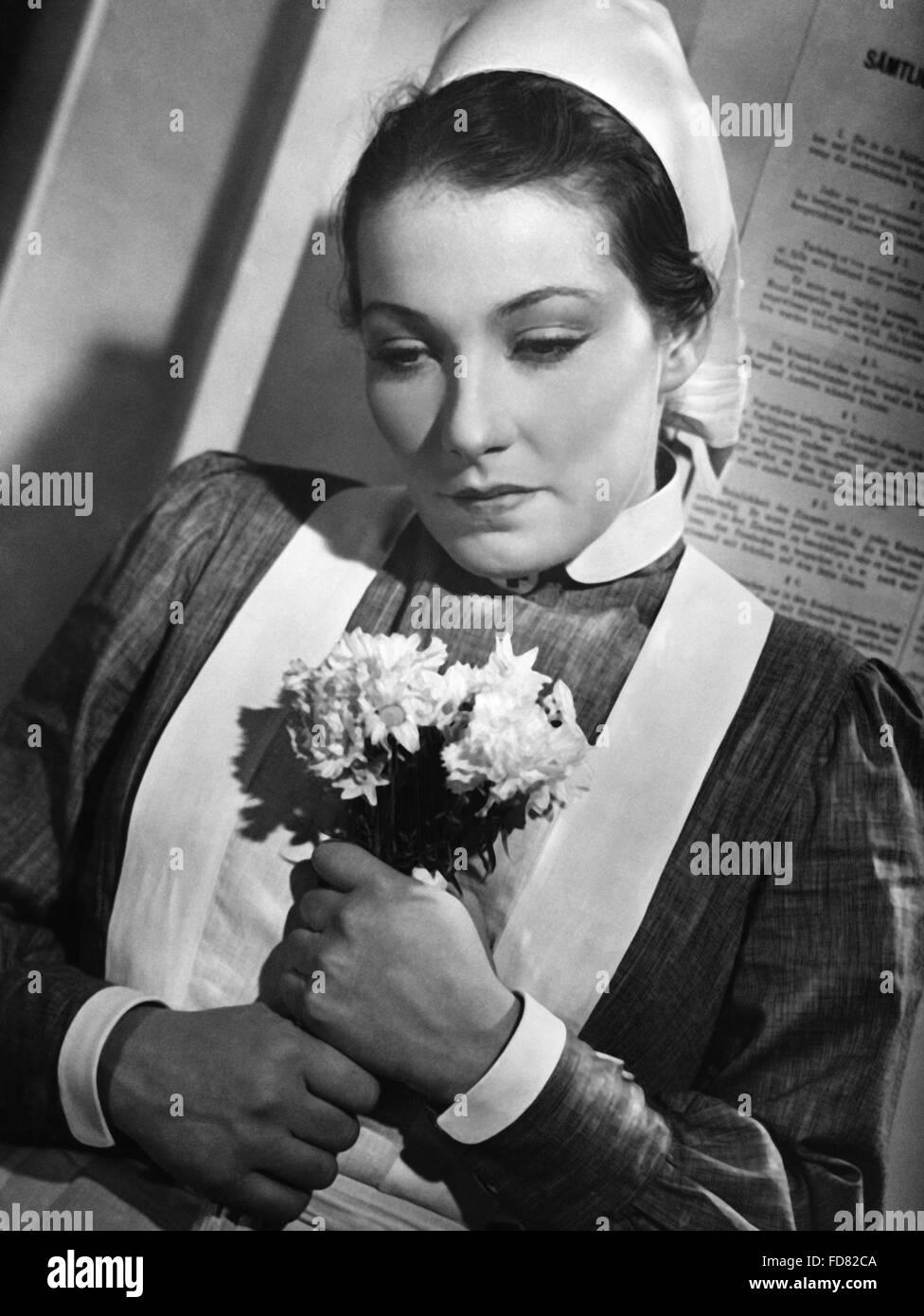 Portrait of Brigitte Horney, 1939 Stock Photo