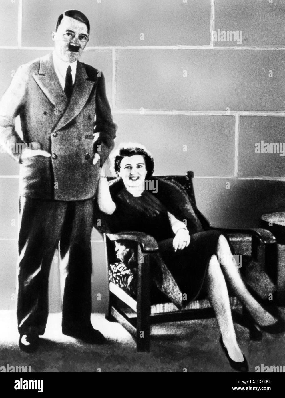 Adolf Hitler and Eva Braun, 1938 Stock Photo: 94220198 - Alamy
