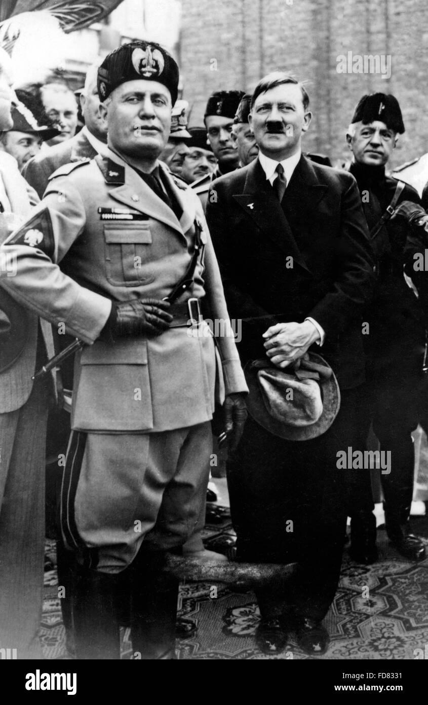 Benito Mussolini and Adolf Hitler in Venice, 1934
