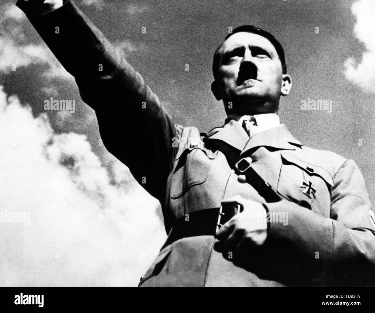 Portrait of Adolf Hitler, 1934 - Stock Image
