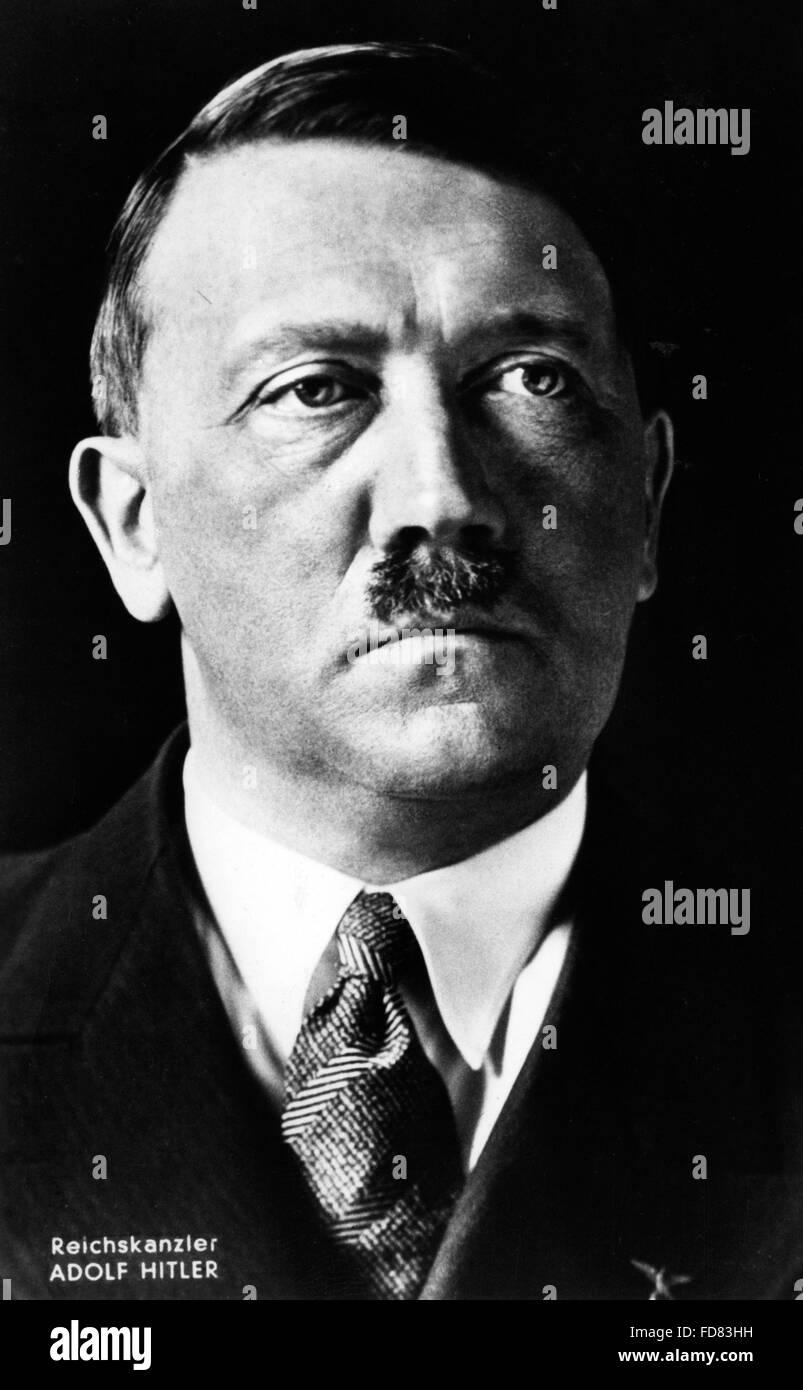 Portrait of Adolf Hitler, 1935 - Stock Image