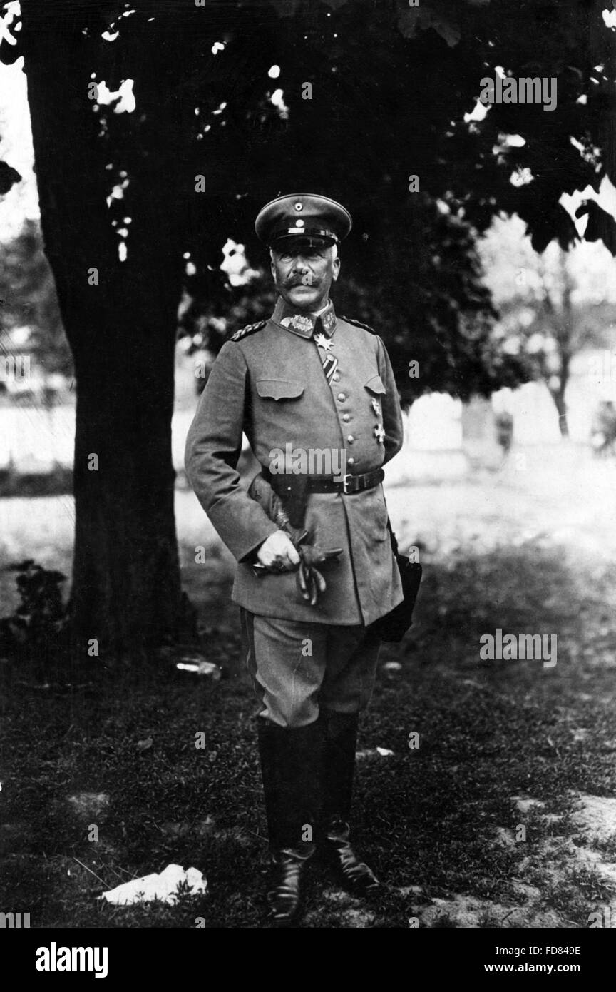 Hermann von Francois, 1917 Stock Photo