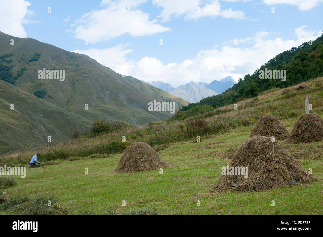 Georgien, Mtskheta-Mtianeti, im Sno-Tal südlich von Stepansminda. - Stock Image