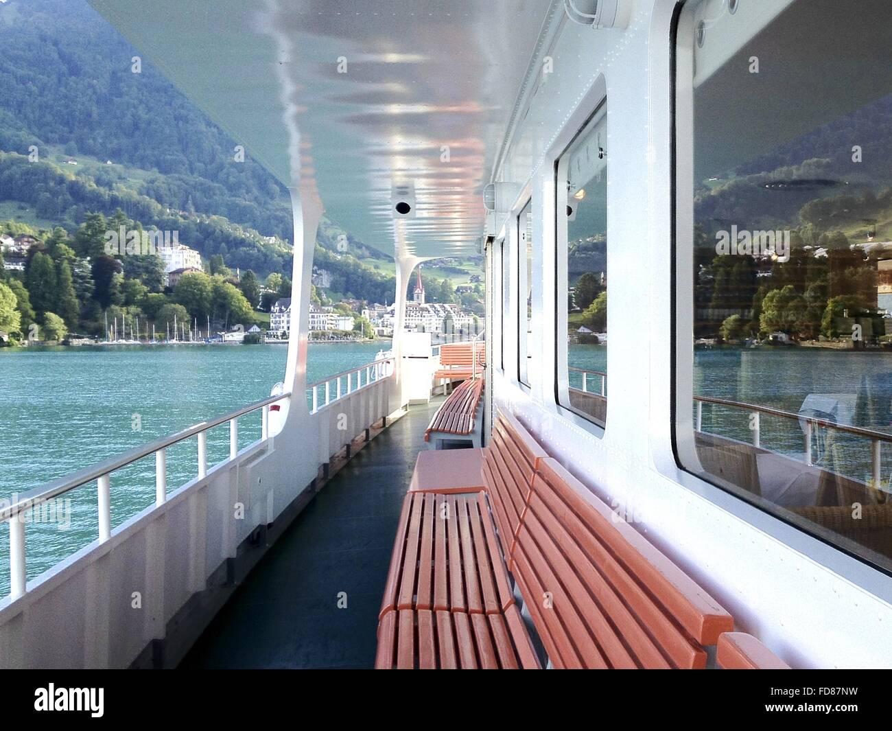Interior Of Passenger Ship - Stock Image