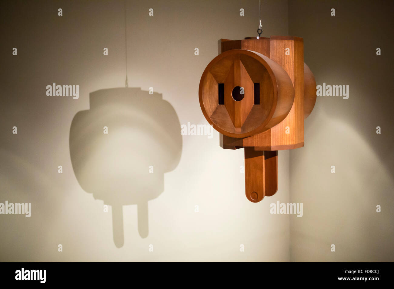 Detroit, Michigan - 'Giant Three-Way Plug' hangs from the ceiling at the Detroit Institute of Arts. Artist: - Stock Image