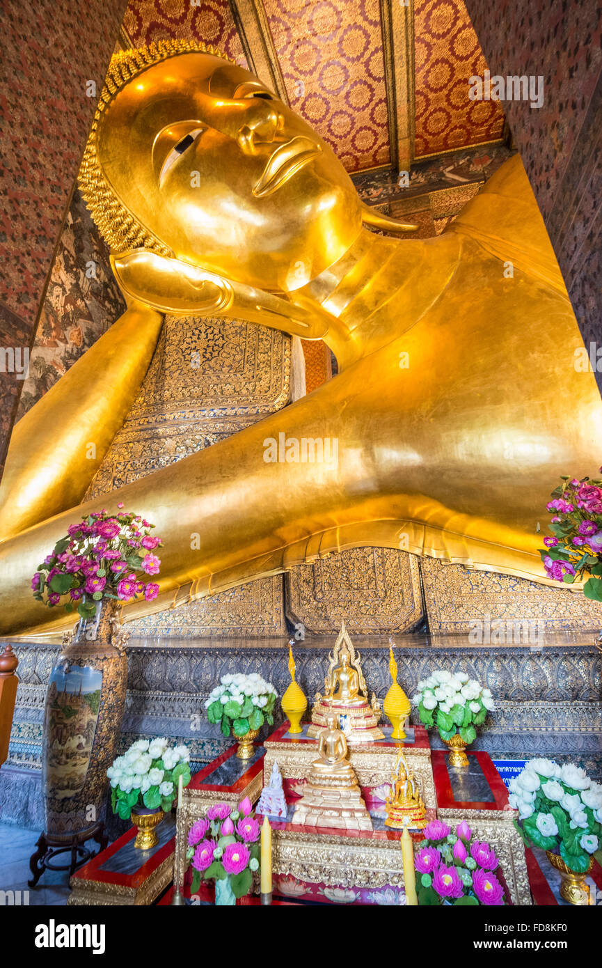 Wat Po, Temple of the Reclining Buddha - Stock Image