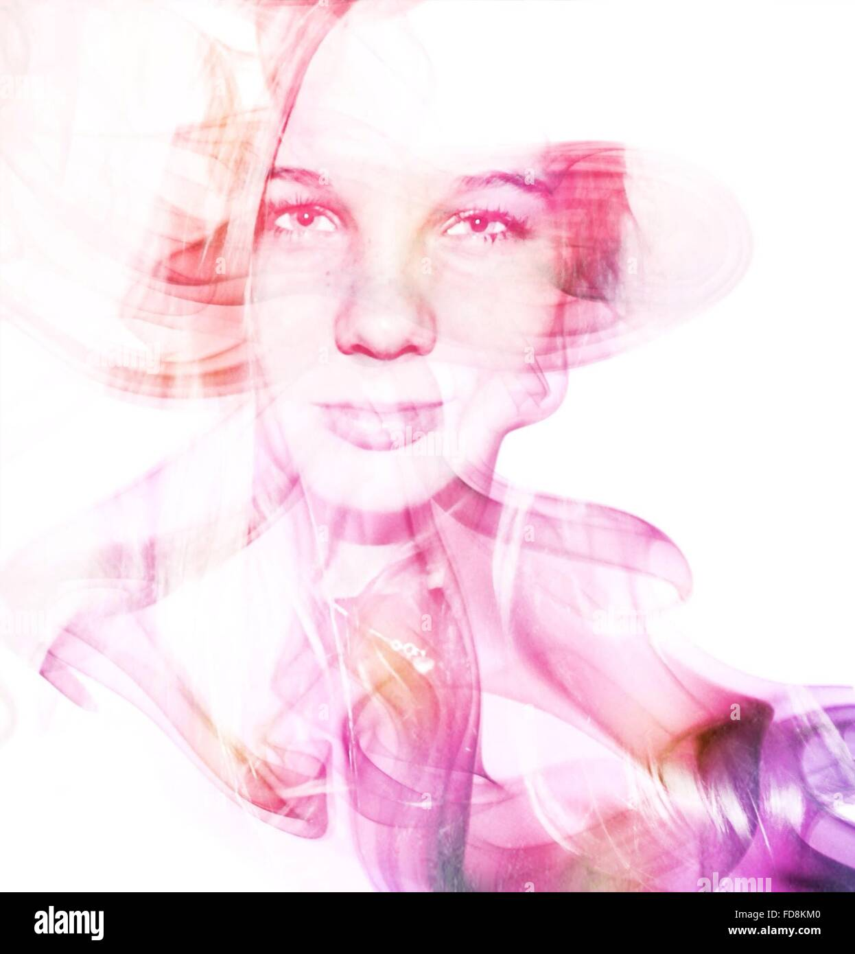 Digital Composite Of Woman - Stock Image