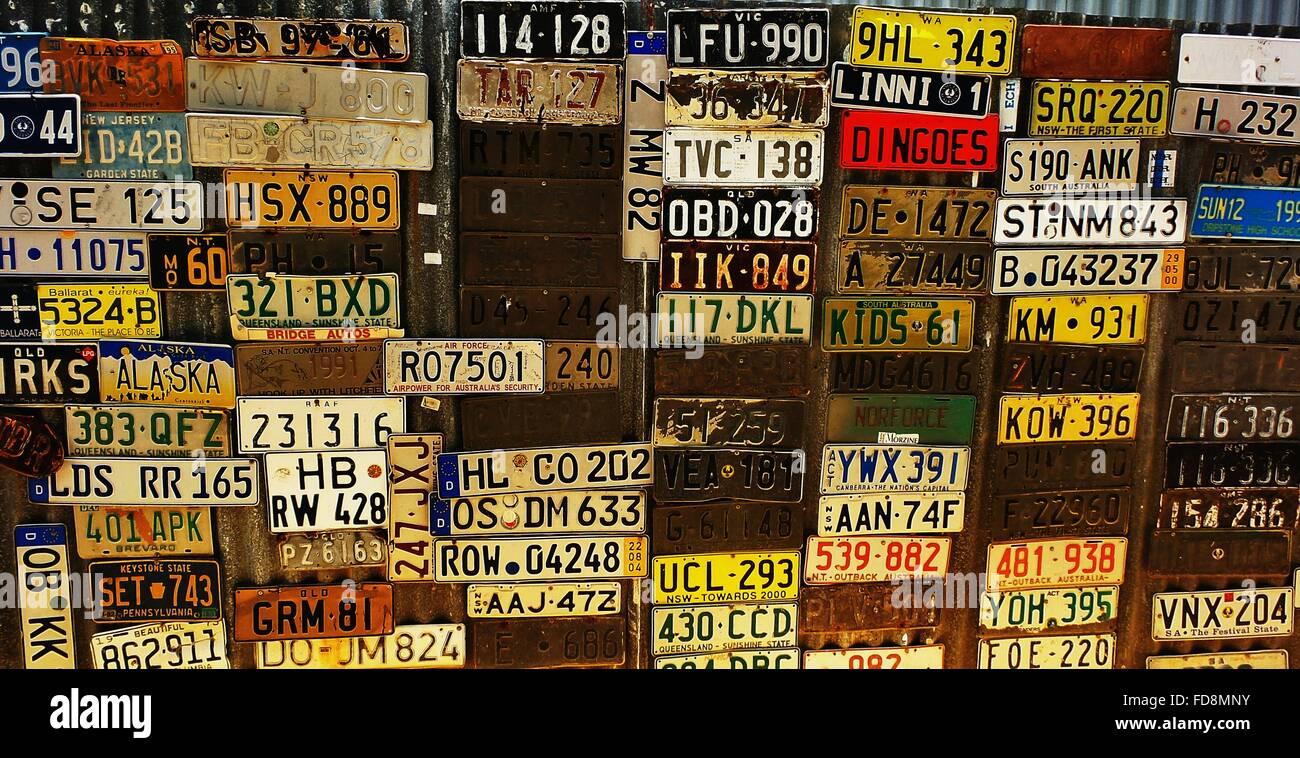 Detail Shot Of Car Number Plates - Stock Image