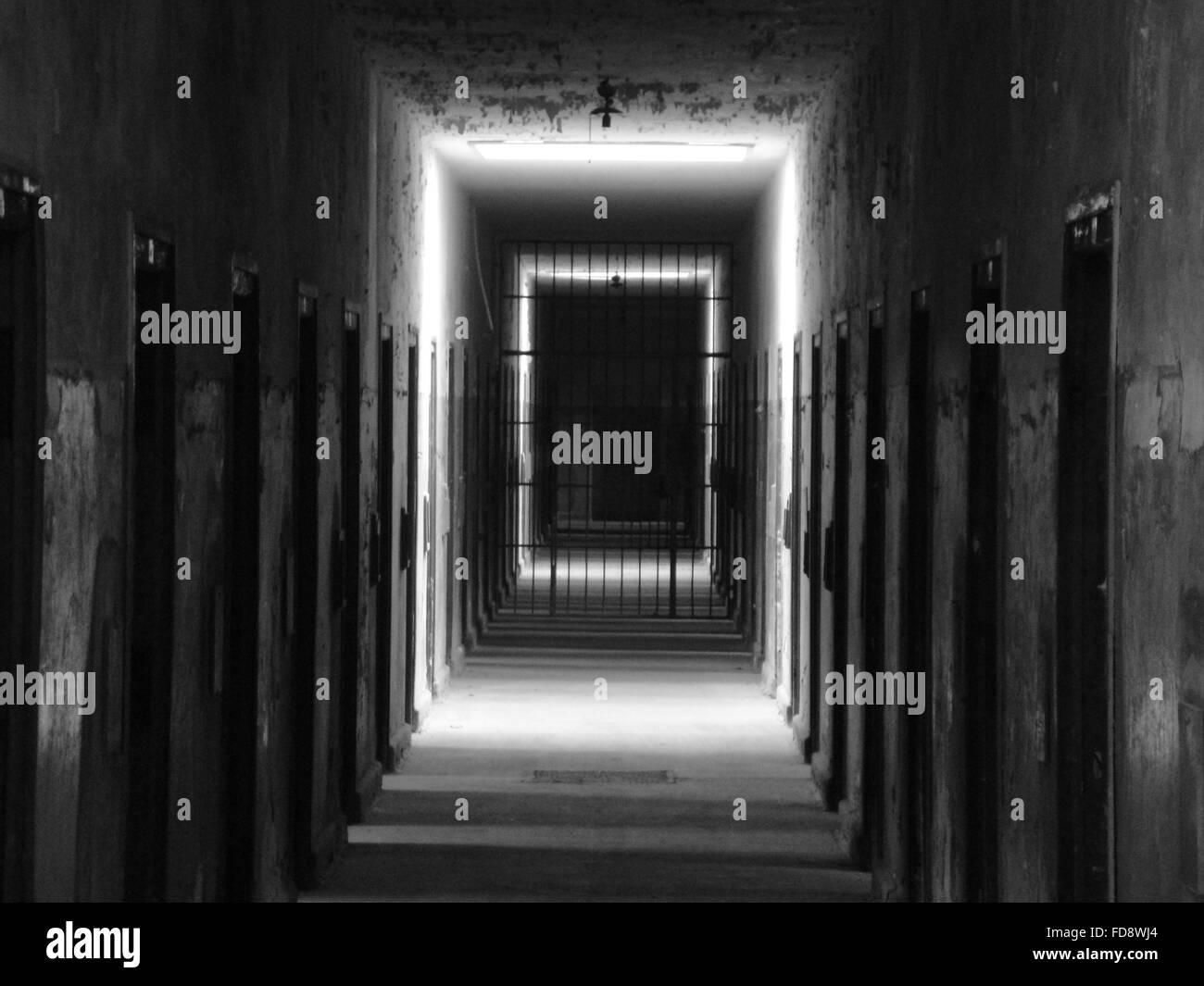 Interiors Of A Prison - Stock Image