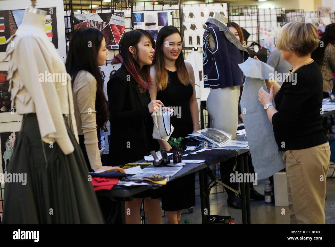 Vancouver Canada 28th Jan 2016 Fashion Design Students Showcase Stock Photo Alamy