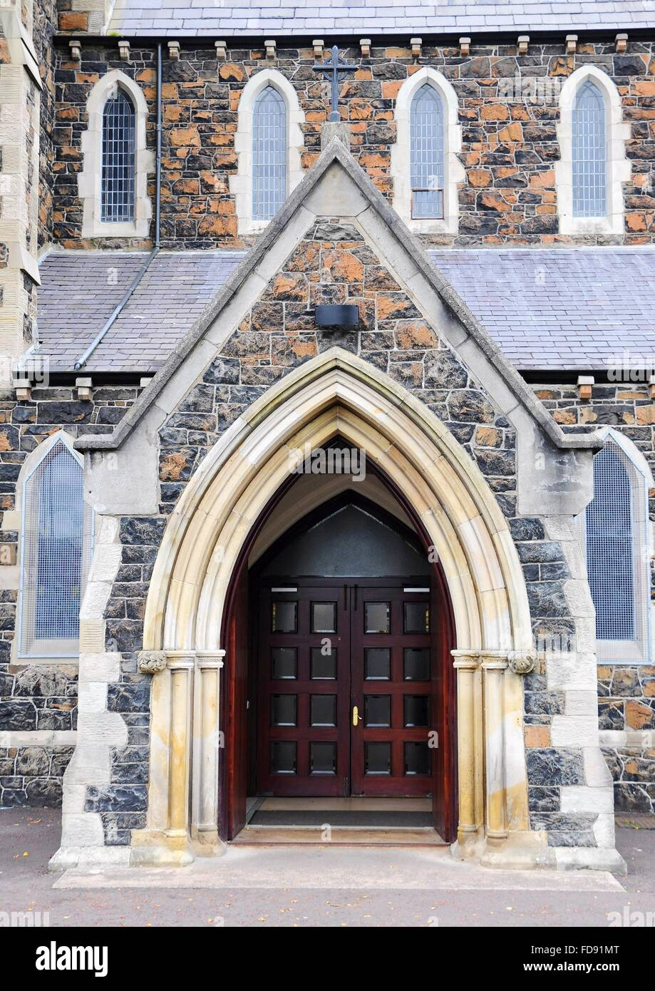 Front Old Church Entrance Doors Stock Photos Front Old Church