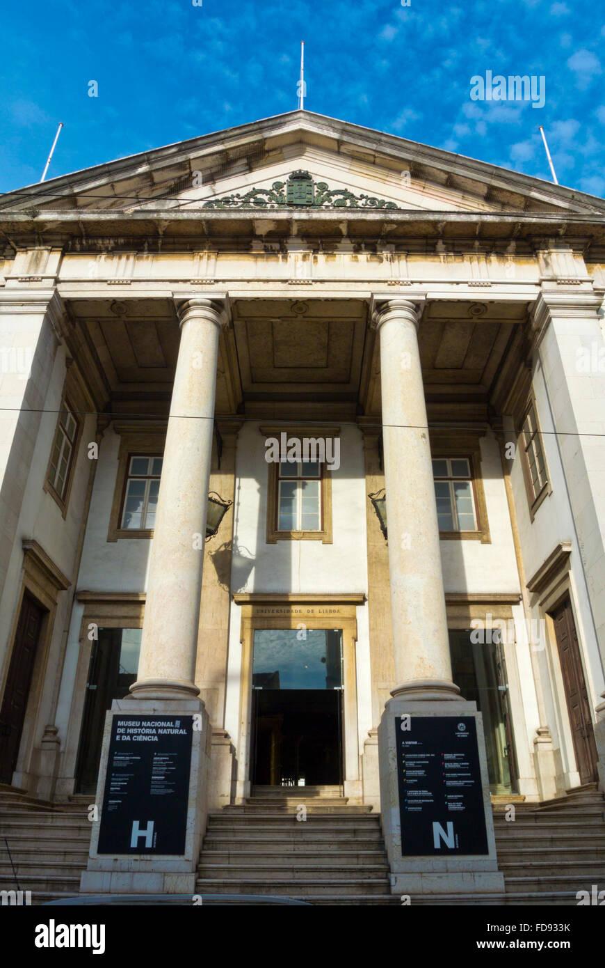 Museu Nacional de História Natural e da Ciência, Natural history and science museum, Sao Bento, Lisbon, - Stock Image