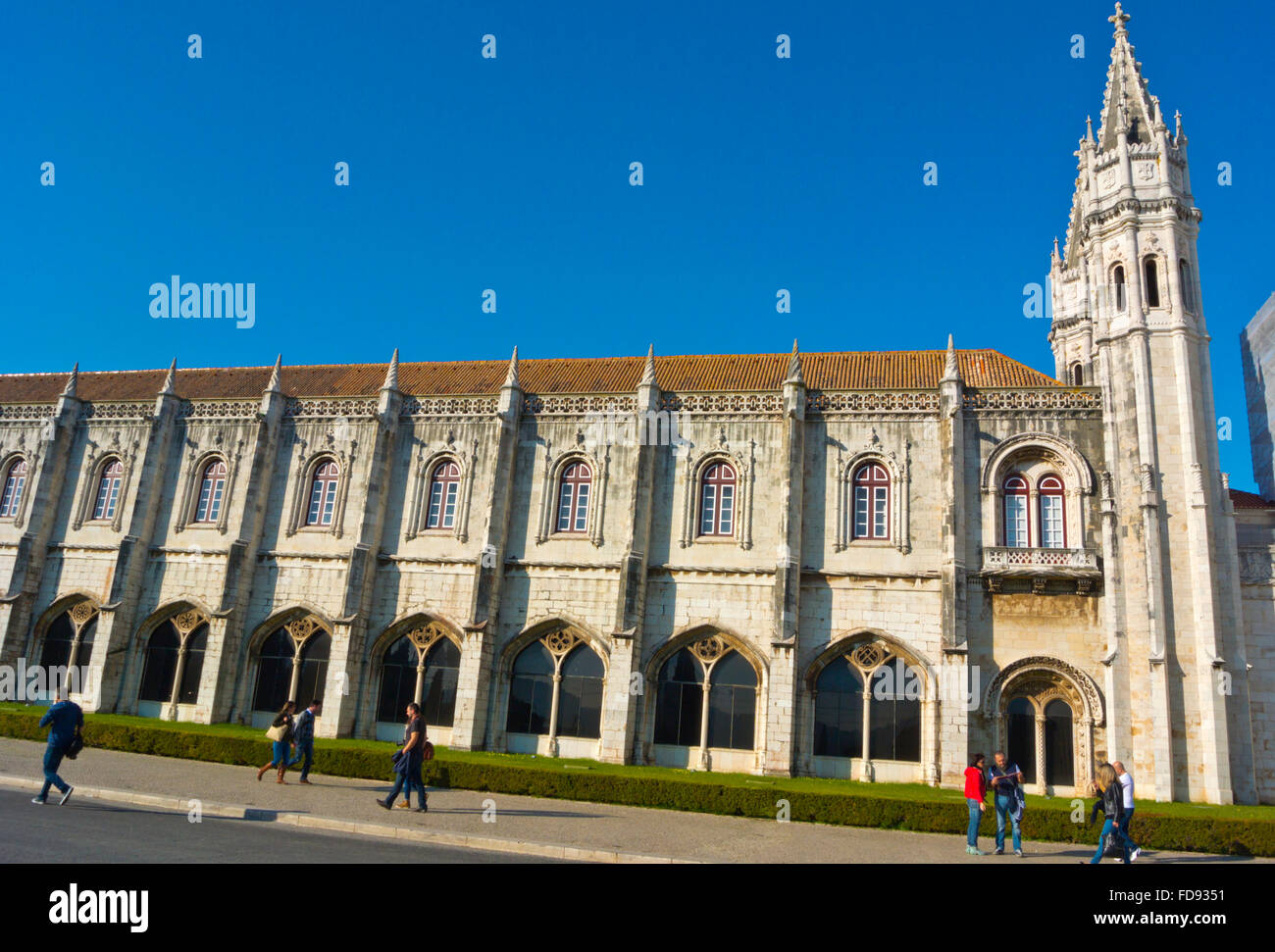 Torre Oca, Mosteiro dos Jerónimos, Jeronimos monastery, Belem, Lisbon, Portugal - Stock Image