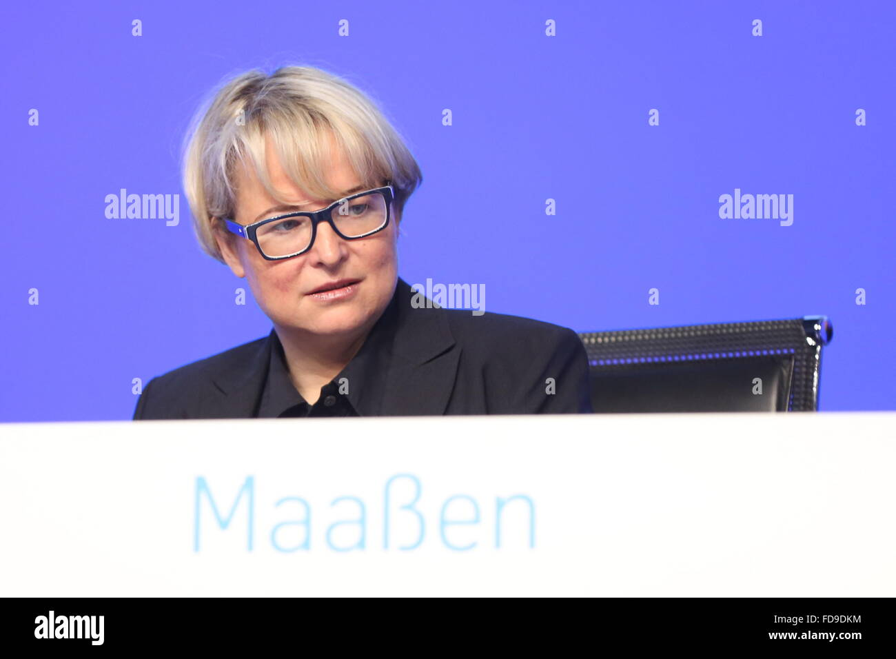 Bochum, Germany. 29th January, 2016. Sabine Maassen, ThyssenKrupp AG annual general meeting, Bochum, Germany, 29.01.2016. - Stock Image