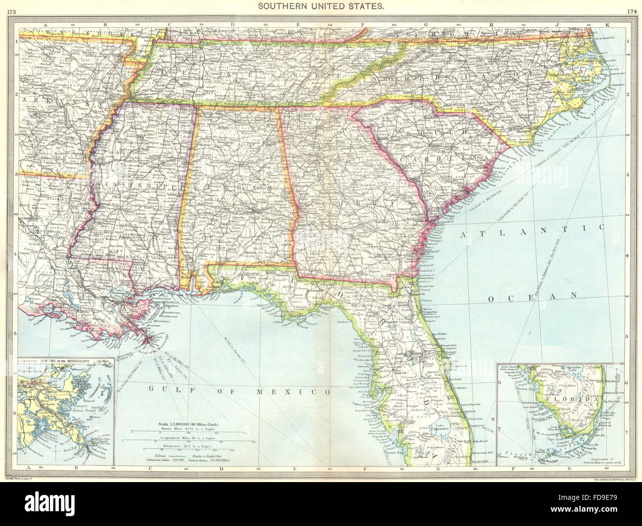 Map Of Southern Usa on