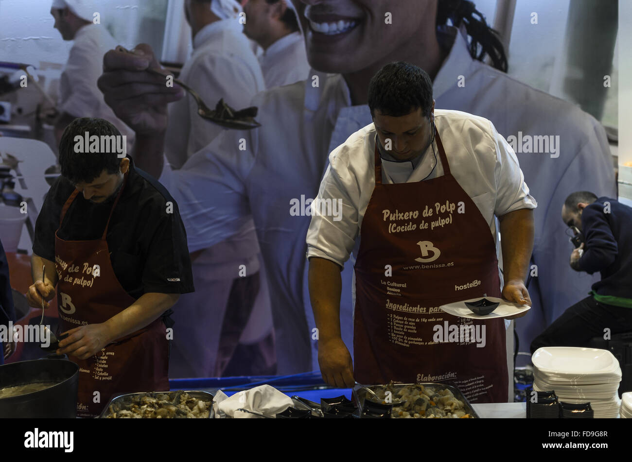 A cook view in Fitur tourism fair, Madrid, Spain - Stock Image