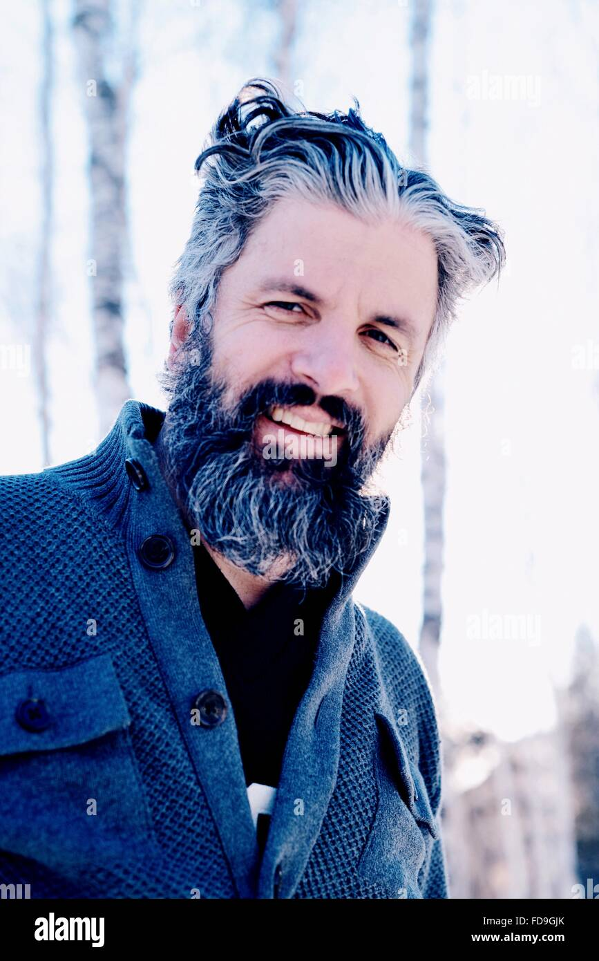 Portrait Of Smiling Mature Man - Stock Image