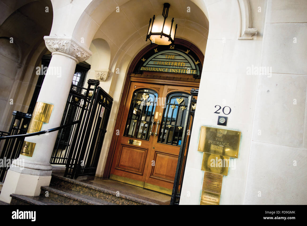 Chartered Insurance Institute building, The Insurance Hall, on Aldermanbury in the City of London - Stock Image