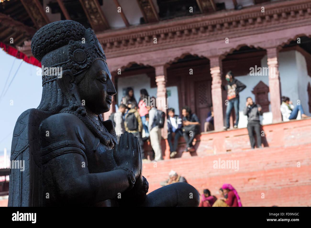 Kathmandu's Durbar Square, Nepal - Stock Image
