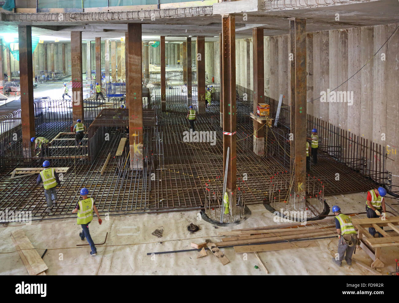 Construction of a reinforced concrete basement floor slab for Best basement construction