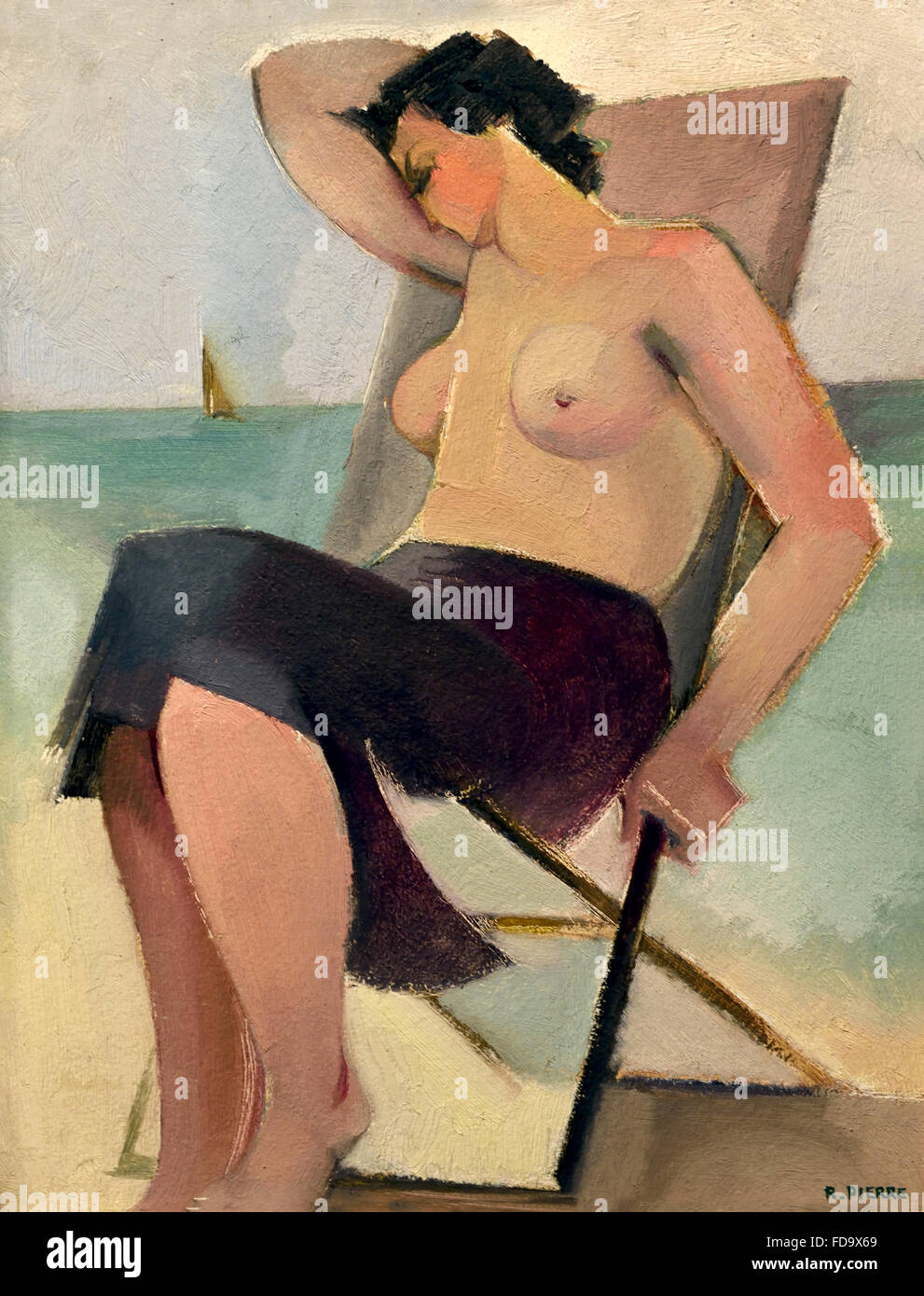 Orleans Bather 1930 by Roger Pierre  France French Painter - Stock Image
