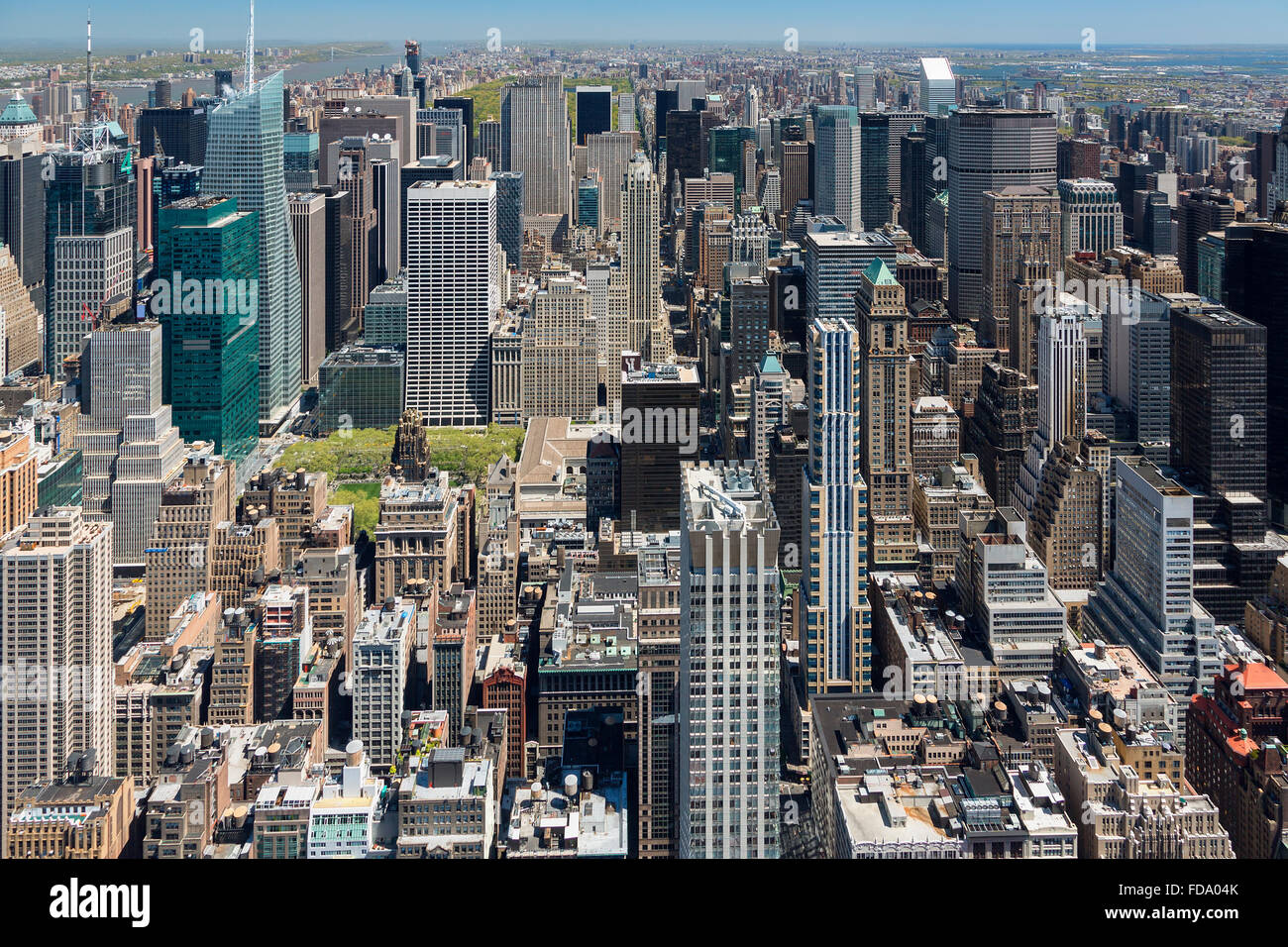 New York, Aerial View from Empire State Building - Stock Image