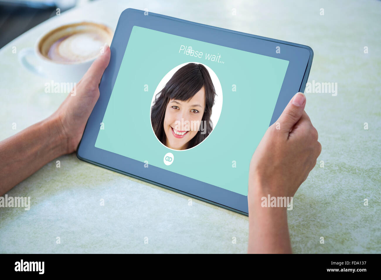 Composite image of identification on interface - Stock Image