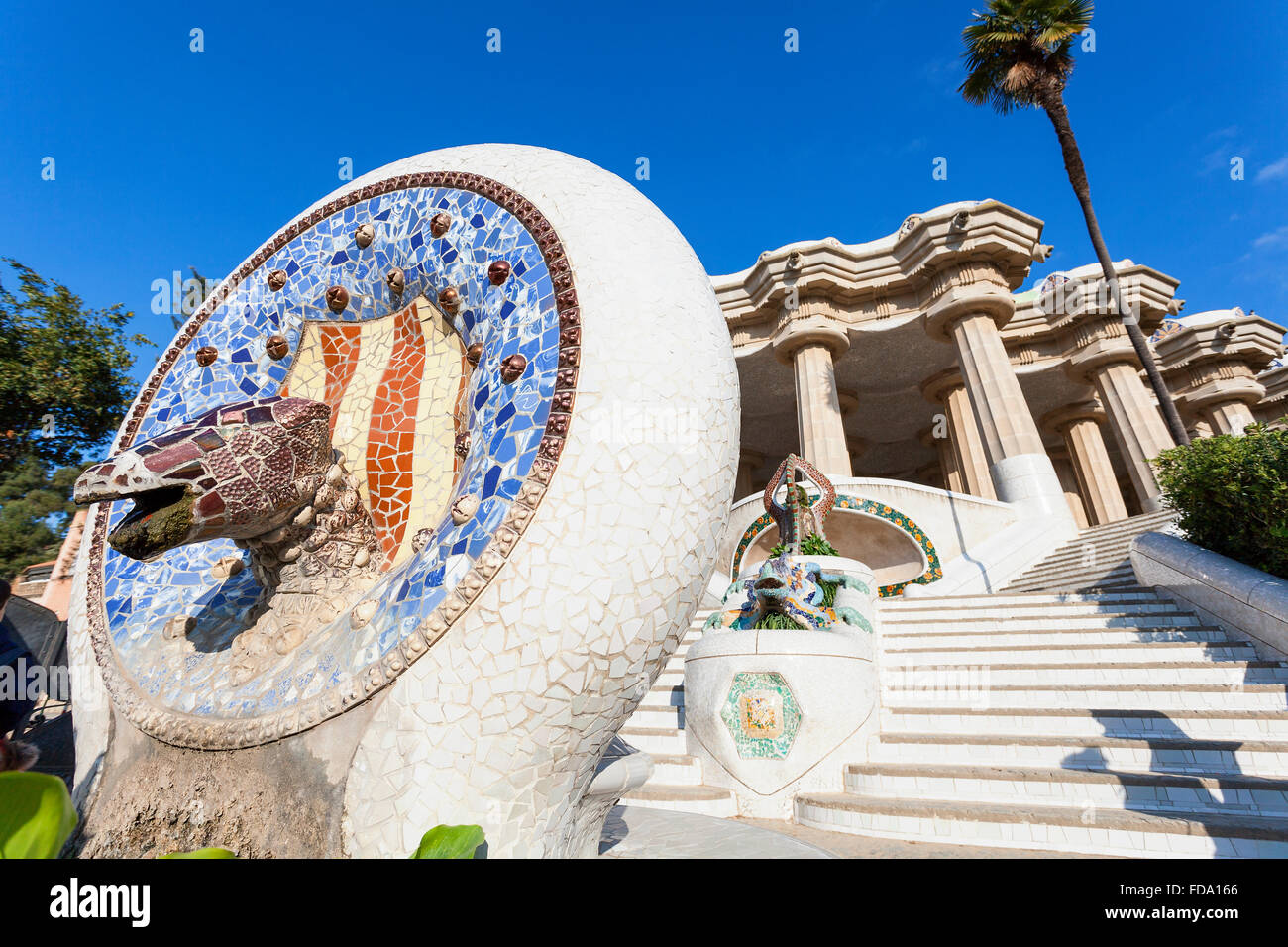 Barcelona, Park Guell by Antoni Gaudi - Stock Image