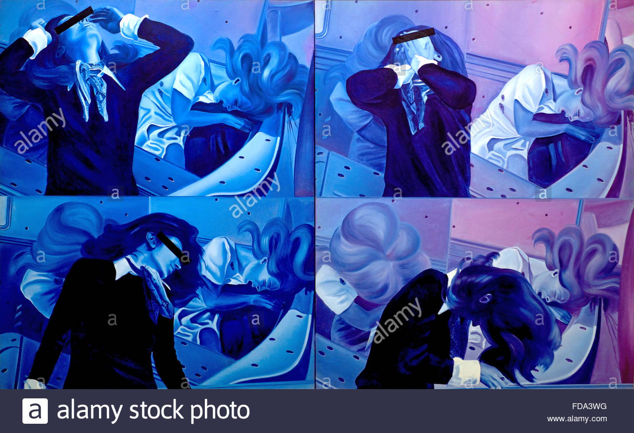 Jacques Monory : Meurtre n° 14 - Murder nr 14 France French - Stock Image