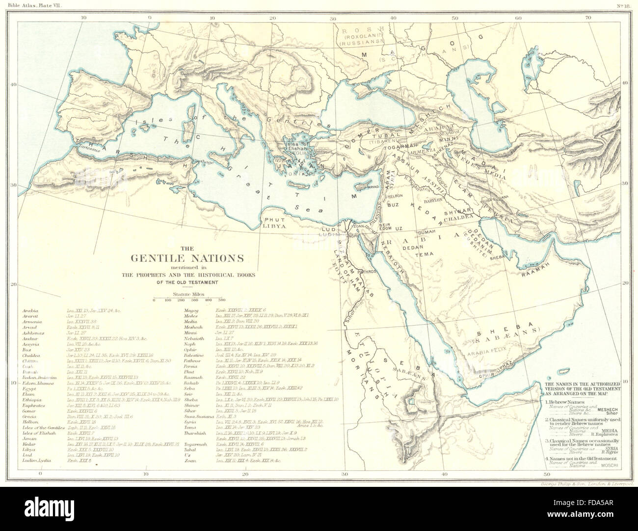 Historical books stock photos historical books stock images alamy gentile nations prophets historical books of old testament 1900 old map stock gumiabroncs Gallery