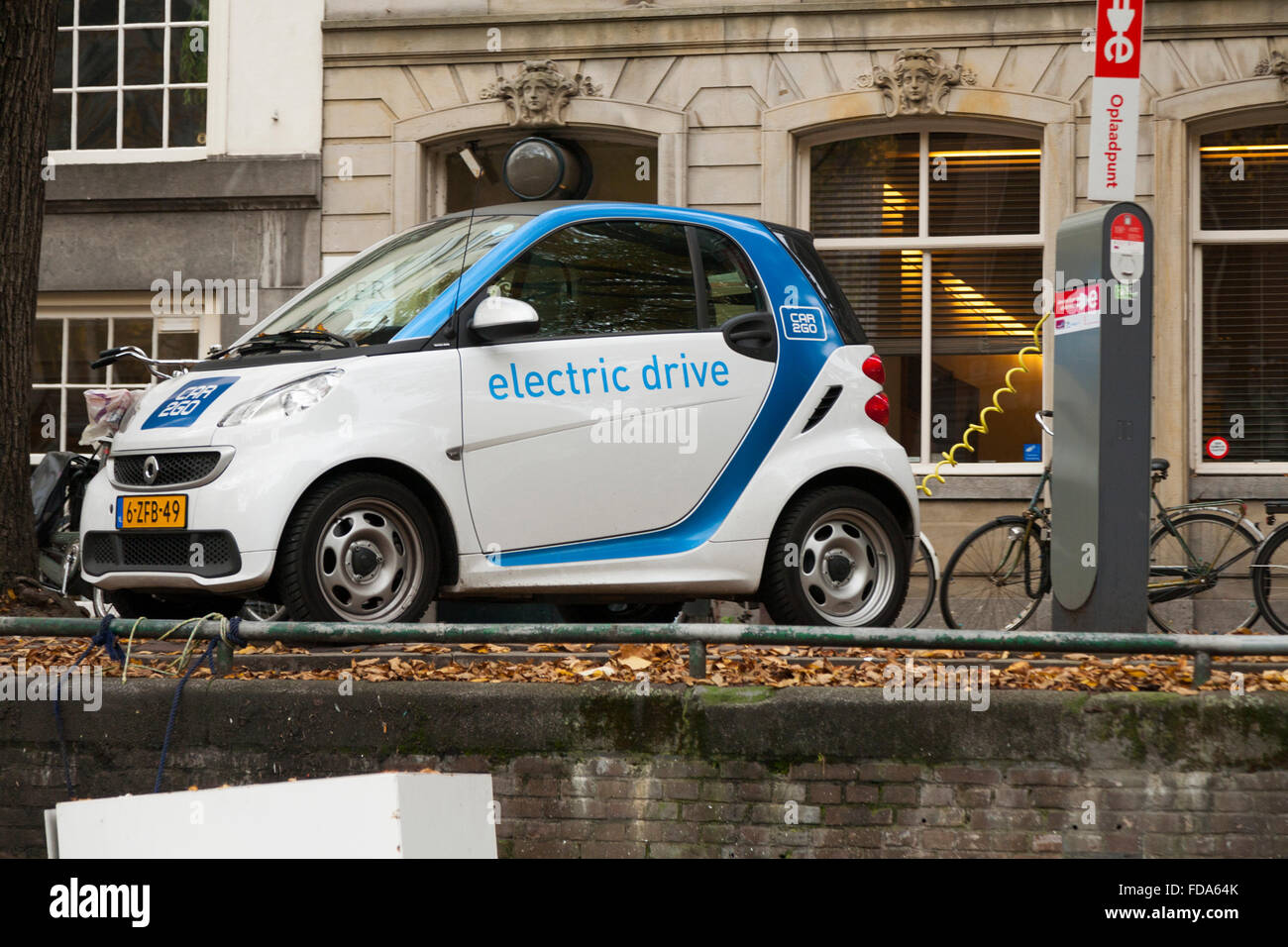 Electric Car Electrically Powered Cars Being Charged Having