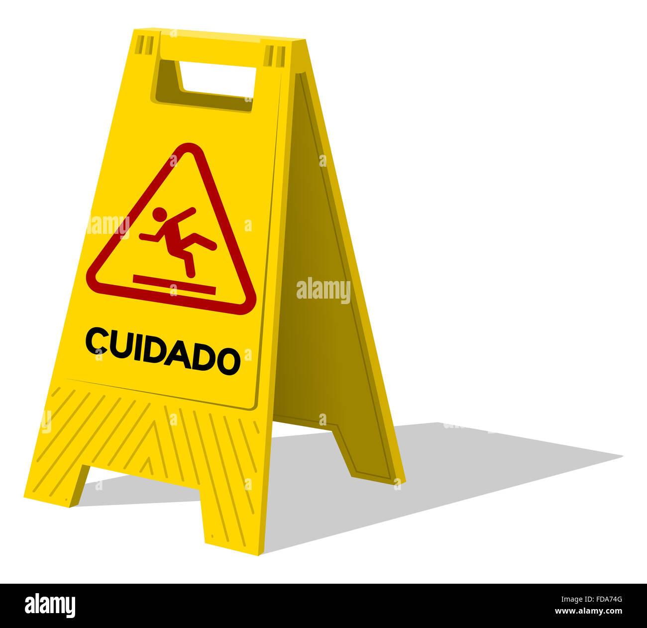 yellow black cuidado sign cut out stock images pictures alamy