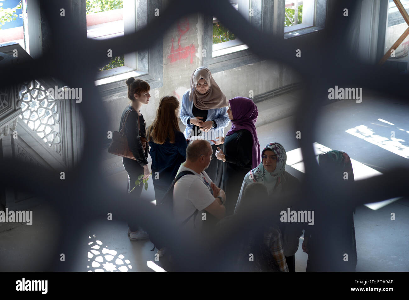 Berlin, Germany, Open Mosque Day in the Mevlana Mosque - Stock Image