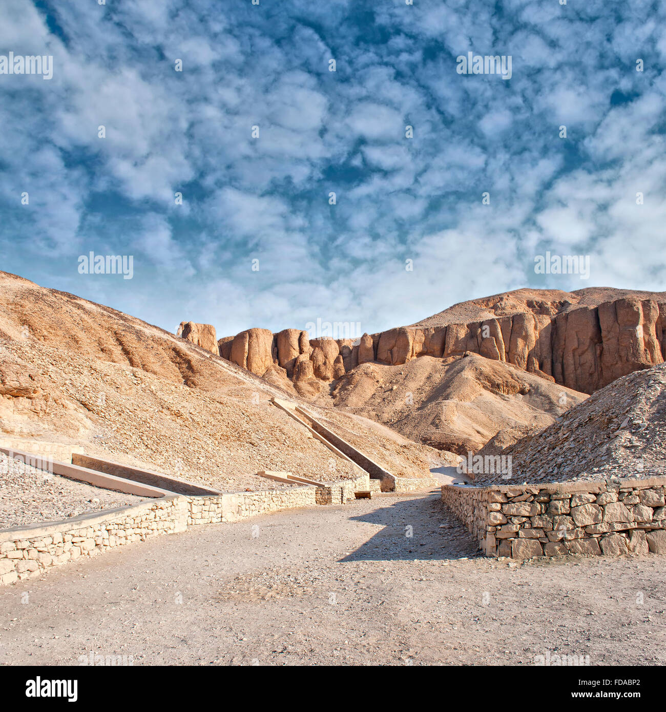 Image of the valley of the kings in Luxor, Egypt. - Stock Image