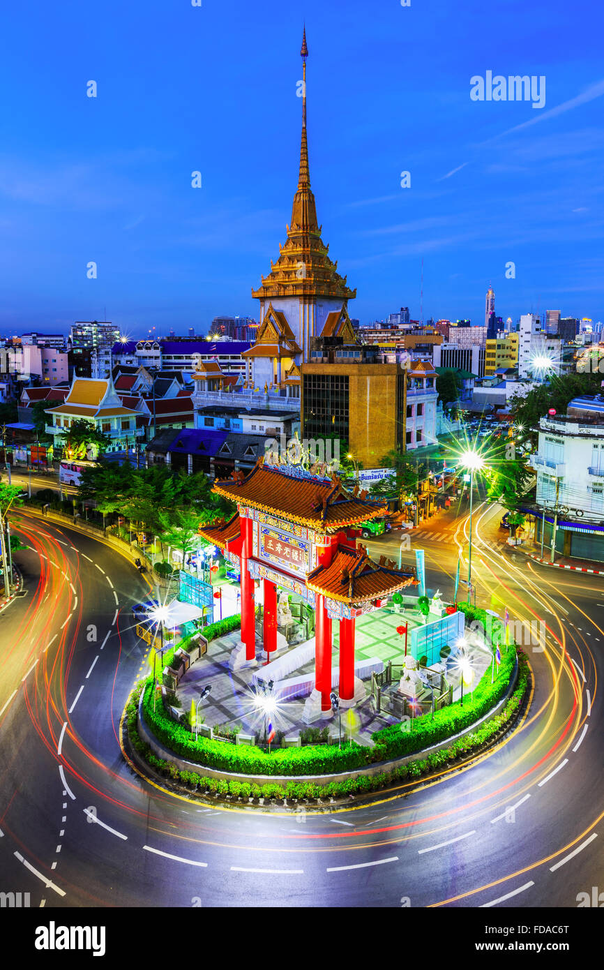 BANGKOK, THAILAND. January 17, 2016. Gateway Arch (Odeon Circle), China town. - Stock Image