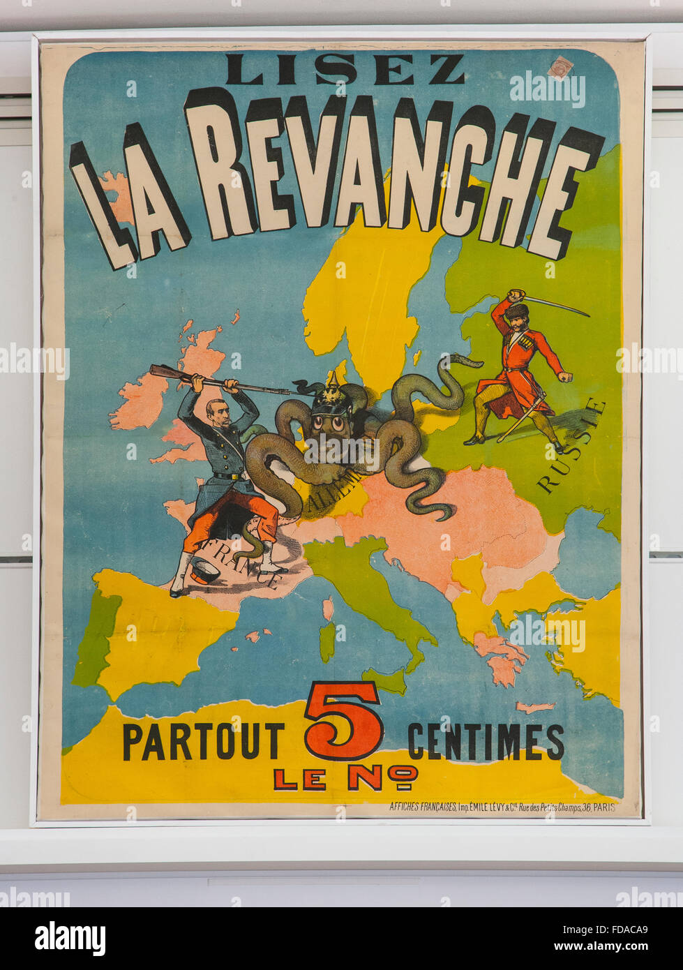 la revanche great war publication front cover book - Stock Image