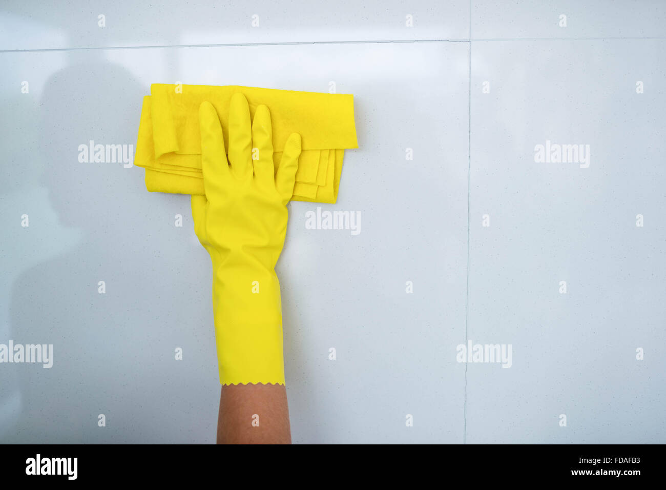 Woman cleaning up - Stock Image