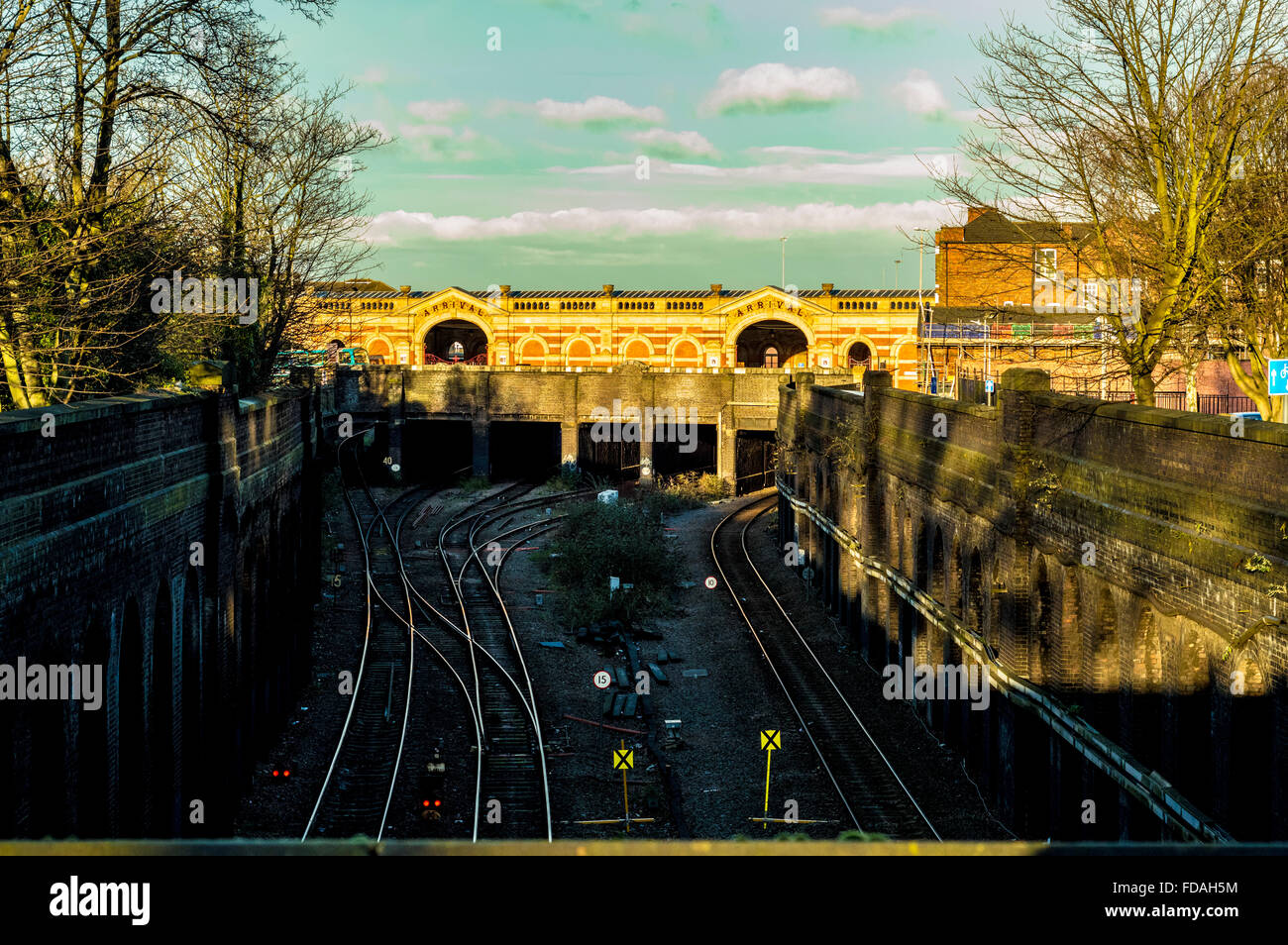 London Road Rail Station, Leicester - Stock Image