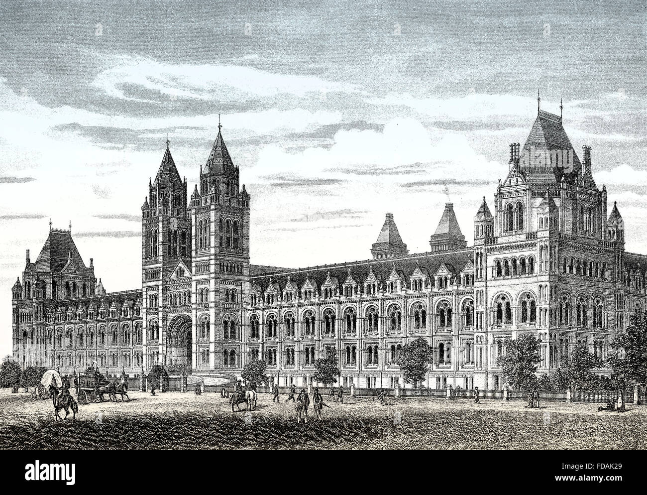 The Natural History Museum, South Kensington, 19th century, London, England - Stock Image