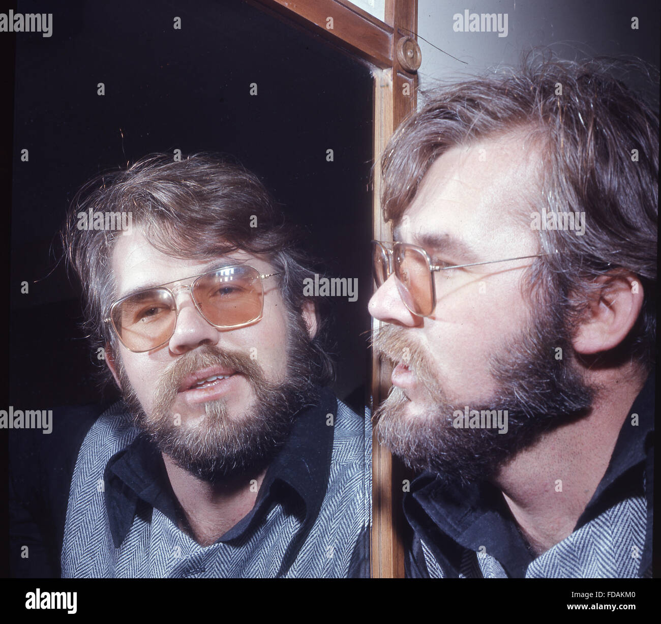 Kenny Rogers Us Singer About 1975 Stock Photo Alamy