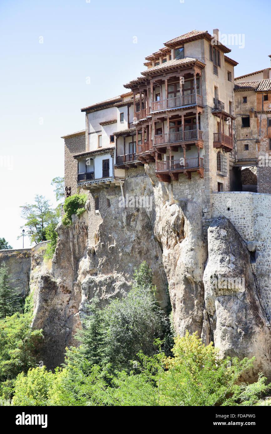 Hanging Houses Casas Colgadas In Cuenca Spain Stock Photo
