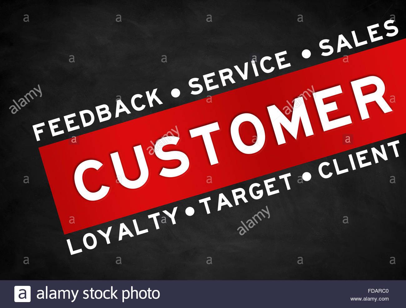 Customer concept advertising - Stock Image