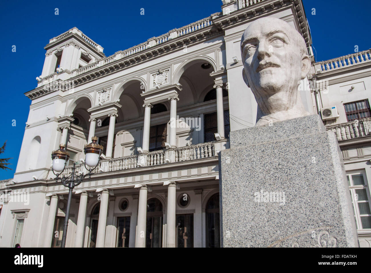 Theater in Aghmashenebeli Avenue, Tbilisi, Georgia. Stock Photo