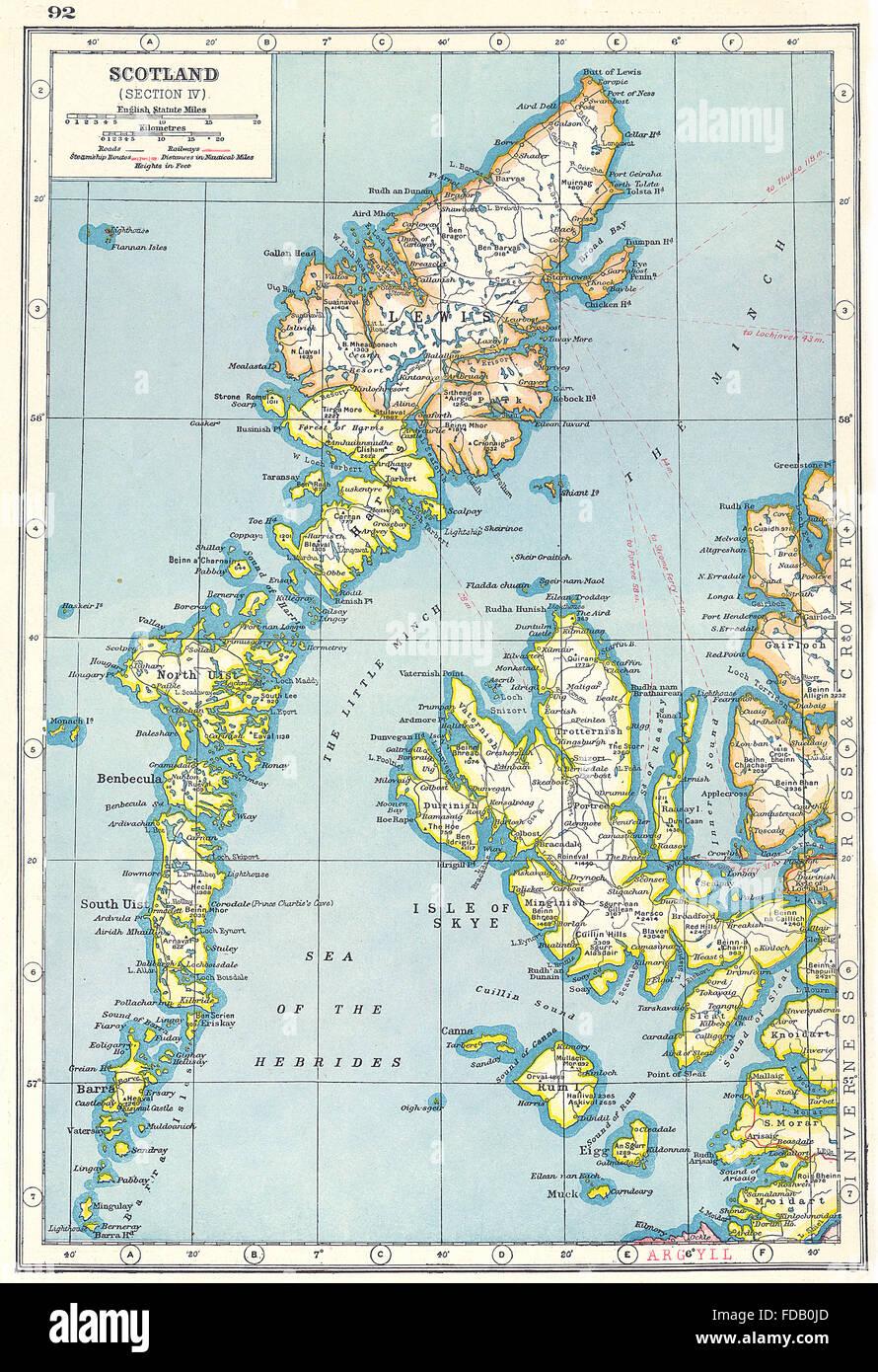 Scotland Western Isles Outer Hebrides Skye Lewis Uist Rum Eigg