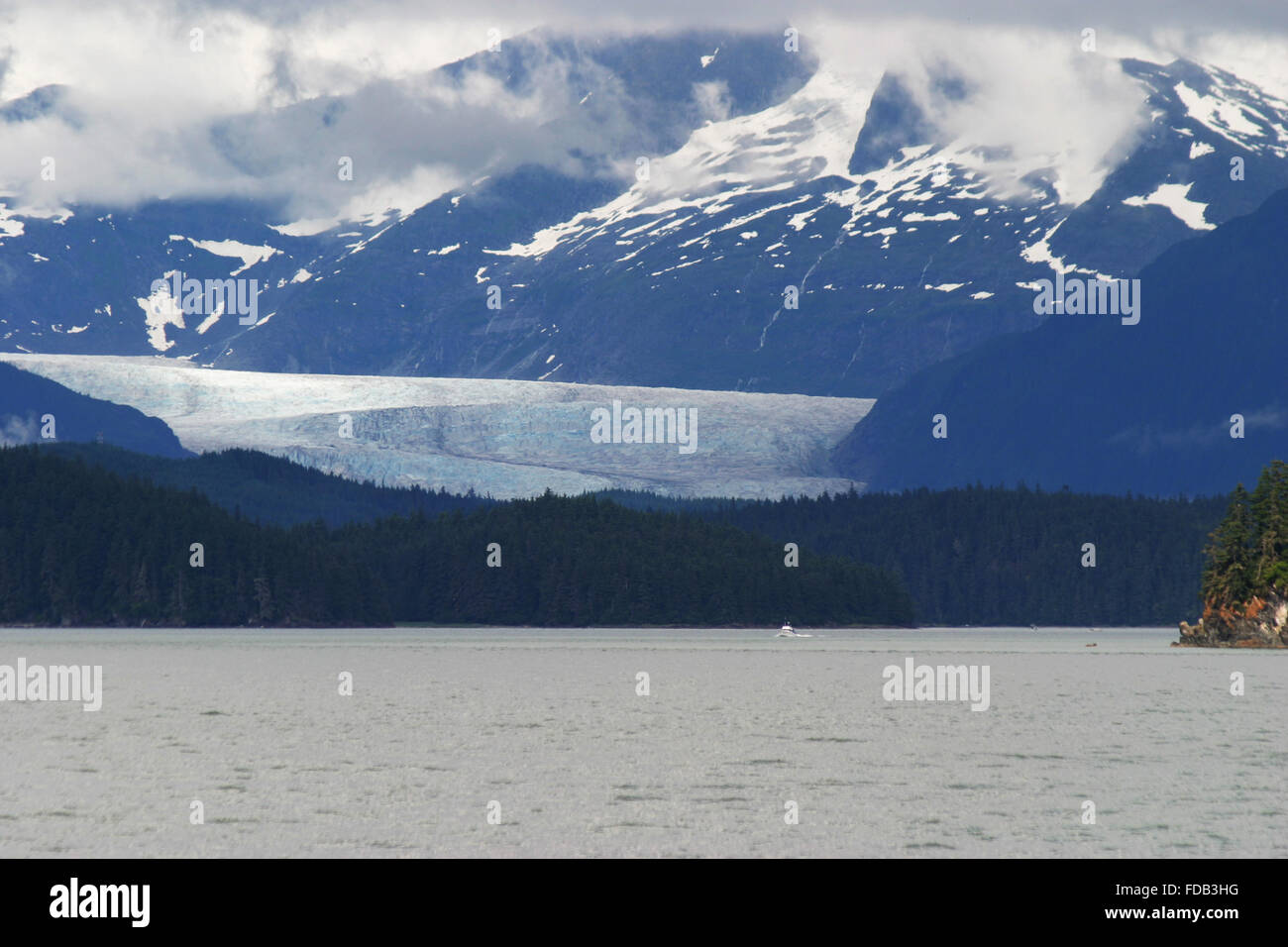 Aerial view of the Juneau Icefield/Mendenhall Glacier in Alaska - Stock Image